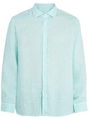 120% Lino Spread-collar linen shirt