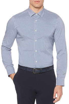 Perry Ellis Mini Check Total Stretch Sport Shirt