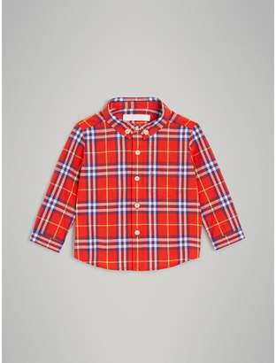 Burberry Childrens Button-down Collar Check Cotton Shirt