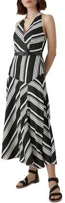 Karen Millen Striped Halter Midi Dress