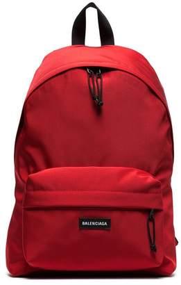 Balenciaga red Explorer dual compartment backpack