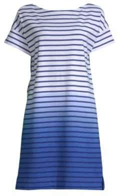 Vineyard Vines Dip-Dyed Stripe Cotton T-Shirt Dress