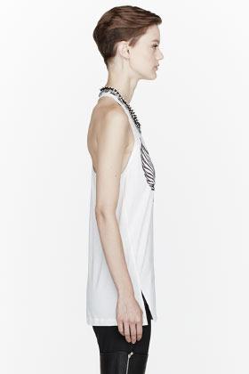 3.1 Phillip Lim Off-white Beaded collar Sono mama tank