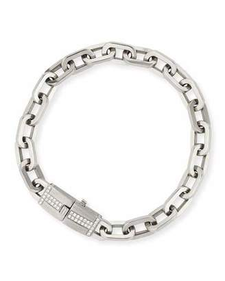 Ivanka Trump 18k White Gold Moderne Diamond Chain Bracelet $7,340 thestylecure.com
