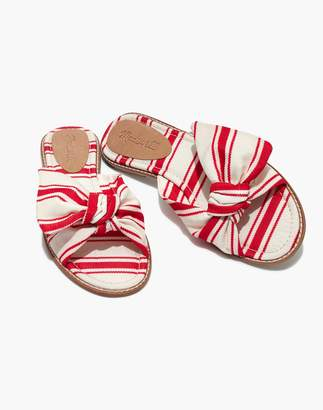 Madewell The Naida Half-Bow Sandal in Marcia Stripe