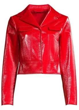 833bac318dd ... Elie Tahari Women s Gigi Moto Jacket - Gala Apple - Size XS