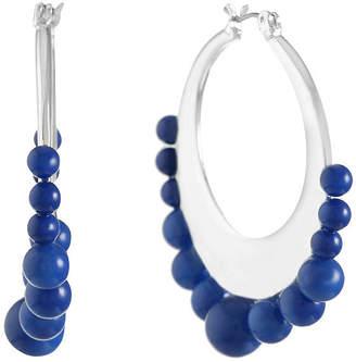 Liz Claiborne Blue 45mm Hoop Earrings