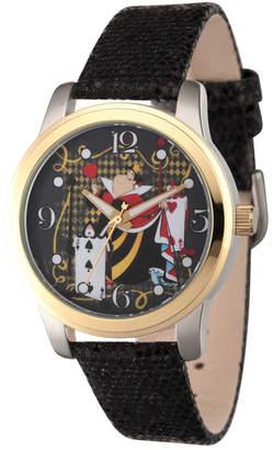 Disney Womens Alice In Wonderland Black Red Queen Strap Watch