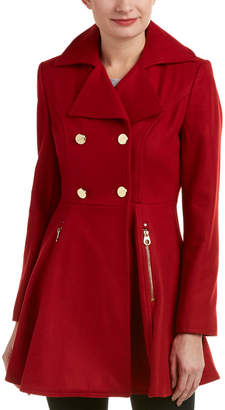 Laundry by Shelli Segal Fit And Flare Wool-Blend Coat