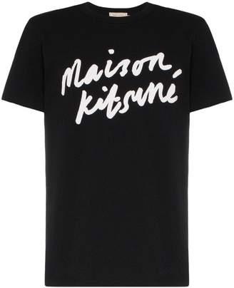 MAISON KITSUNÉ Scripted logo cotton T-shirt