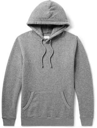 Saturdays NYC Logo-Intarsia Mélange Brushed-Jersey Hoodie