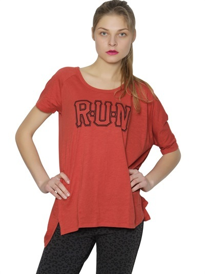 Asymmetrical Cotton Jersey T-Shirt