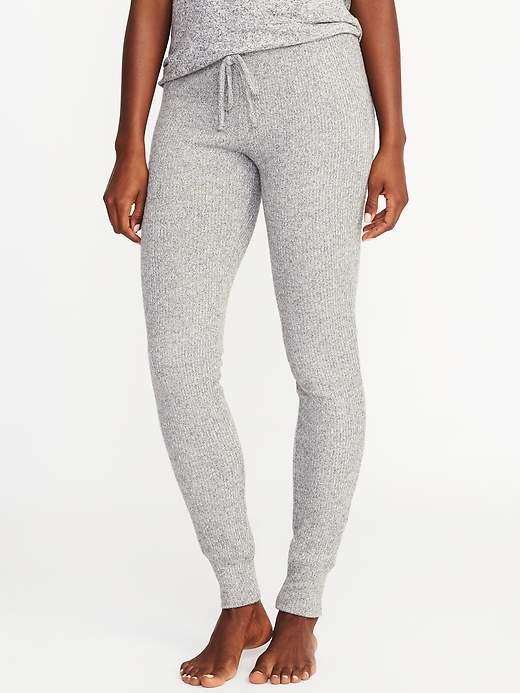 Plush Rib-Knit Lounge Leggings for Women