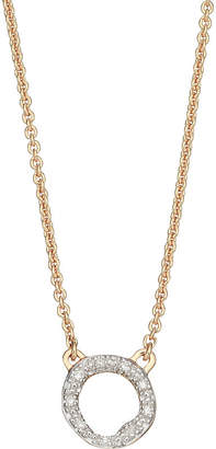 Monica Vinader Riva Mini Circle 18ct gold-vermeil and diamond necklace