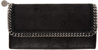 Stella McCartney Black Falabella Continental Flap Wallet $375 thestylecure.com