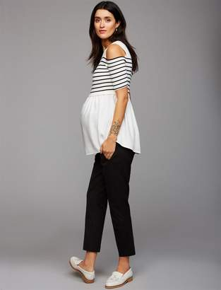 A Pea in the Pod Secret Fit Belly Twill Slim Ankle Maternity Pant