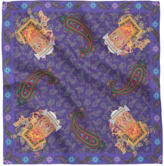 House of Gharats - Gajraj Silk Pocket Square Purple