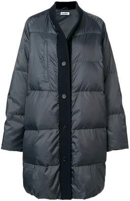Jil Sander wool trim puffer jacket