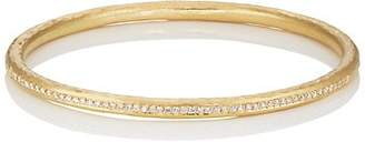 Malcolm Betts Women's Diamond Oval Bangle - Gold