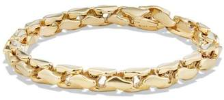 David Yurman Large Fluted Chain Bracelet in 18K Gold