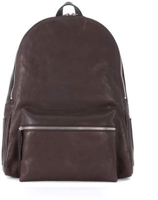 Orciani Dark Brown Leather Rucksack