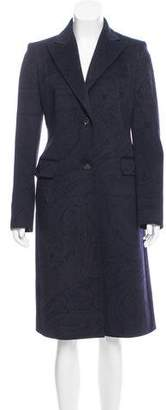 Loro Piana Virgin Wool Paisley Coat