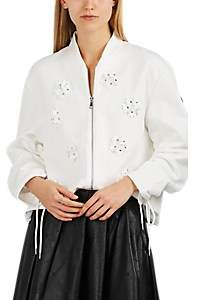 Noir Kei Ninomiya 6 MONCLER Women's Embellished Cotton-Blend Jersey Cardigan - White