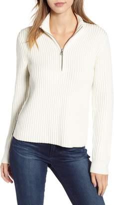 Calvin Klein Jeans Half Zip Wool Blend Sweater