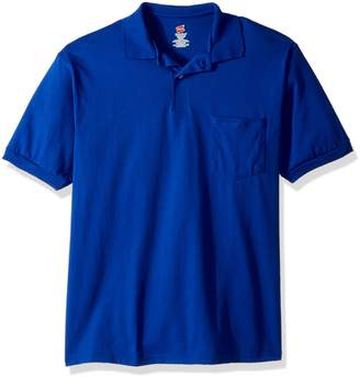 Hanes ComfortBlend Cotton-Blend Jersey Men's Polo with Pocket