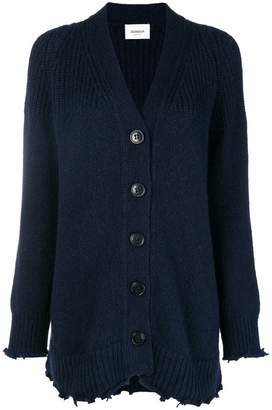 Dondup frayed hem knitted cardigan