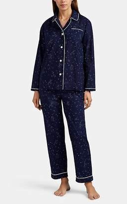 Sleepy Jones Women's Bishop Constellation-Print Cotton Pajama Set - Navy