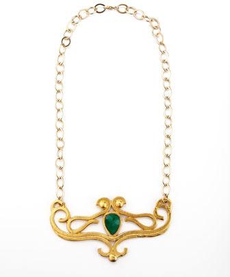 Devon Leigh Egyptian Green Onyx Necklace