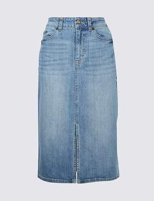 Marks and Spencer Denim Midi Skirt