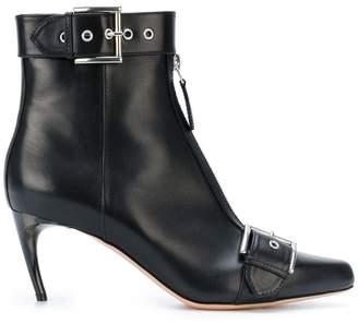 Alexander McQueen heeled buckle boots
