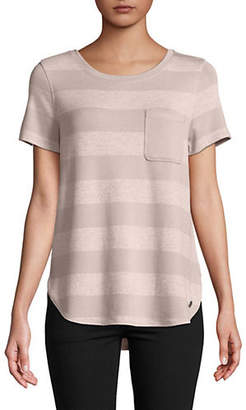 Calvin Klein Short-Sleeve Striped Top