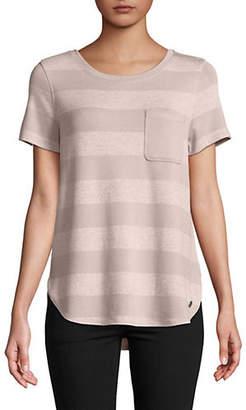 Calvin Klein Short-Sleeve Striped Top