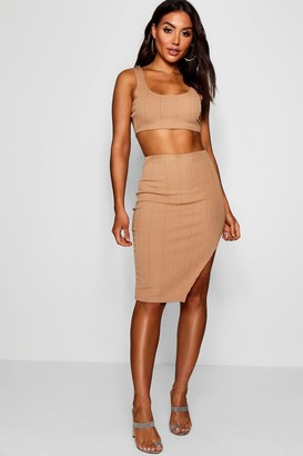 ecdf88154bea7 boohoo Bandage Skirt and Crop Top Co-ord Set