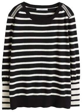 Violeta BY MANGO Striped appliquA sweater