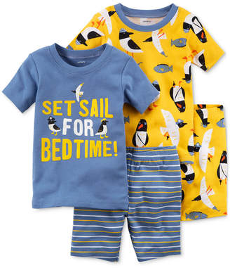 Carter's 4-Pc. Penguin-Print Cotton Pajama Set, Baby Boys