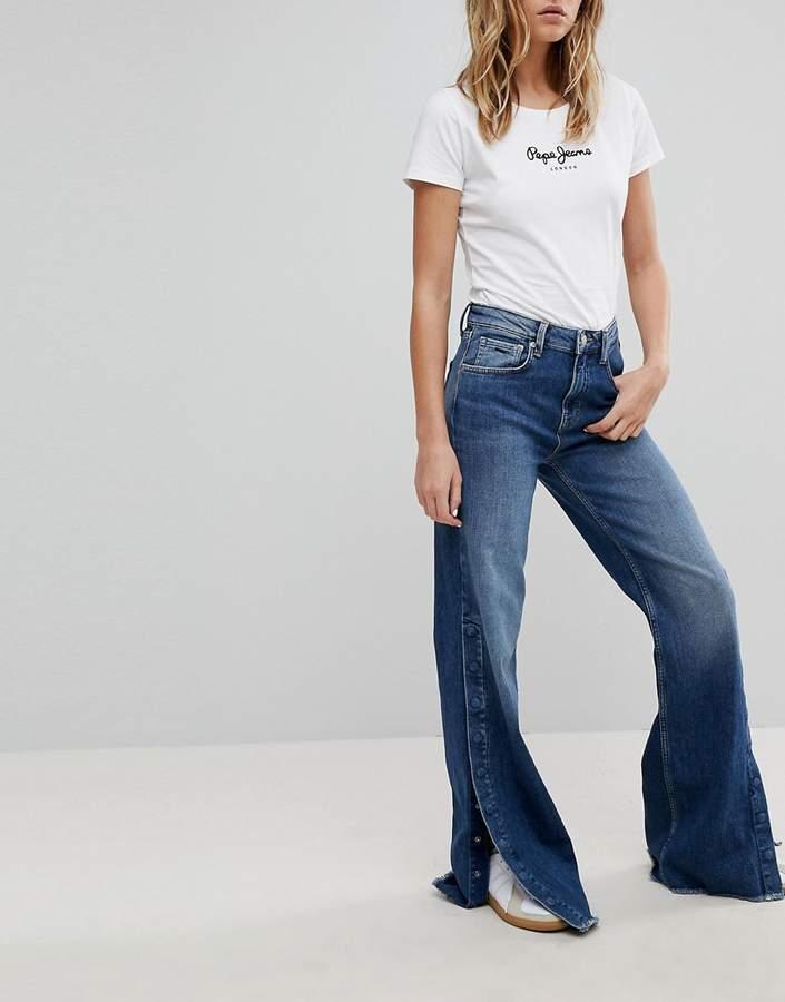 – Maxa – Jeans mit hohem Bund und weitem Bein