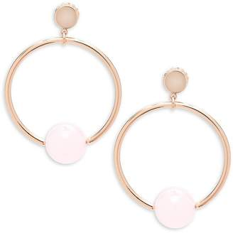 Jardin Women's Circle Drop Earrings