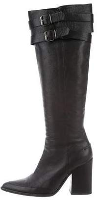 Veronique Branquinho Leather Knee-High Boots
