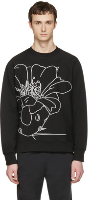 PS by Paul Smith Black Embroidered Pullover $150 thestylecure.com