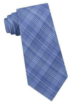 Michael Kors Shaded Plaid Silk Tie
