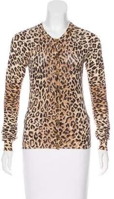 Dolce & Gabbana Leopard Print Knit Cardigan