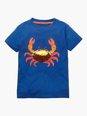b87bee8d007b at John Lewis and Partners · Boden Mini Boys' Sequin Crab T-Shirt, ...
