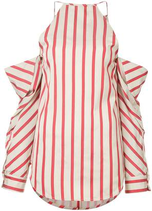 CHRISTOPHER ESBER striped collapsed sleeve top