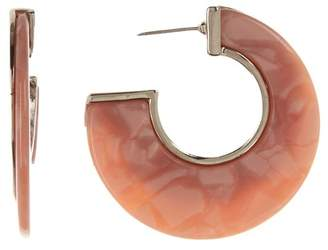 7bd29f1e37f3b Silver Post Hoop Earrings - ShopStyle