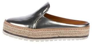 Brunello Cucinelli Patent Leather Platform Mules