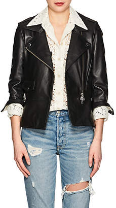 Barneys New York Women's Leather Moto Jacket - Black